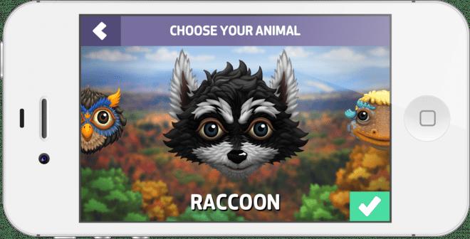 Picking an avatar on the iOS app