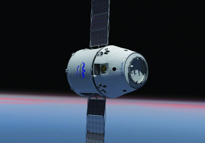 Artist Rendition of Dragon In Space