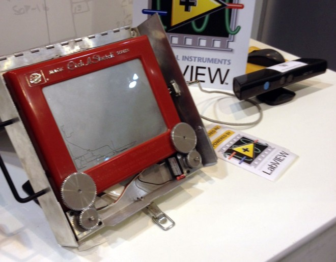 Kinect-controlled Etch-a-Sketch