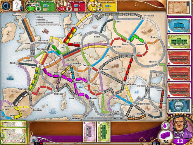 Ticket to Ride Steam Screen