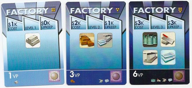 Titans of Industry Factory cards