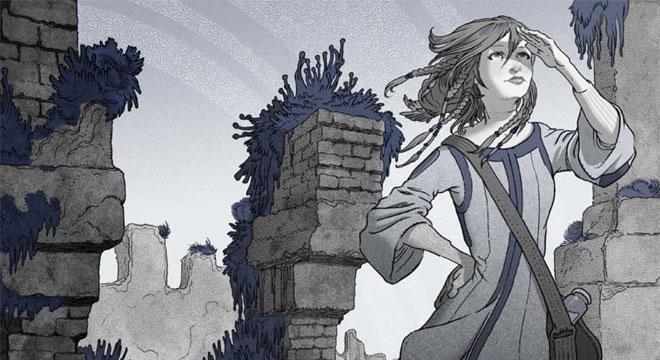 Eva Nine from A Hero for Wondla by Tony DiTerlizzi