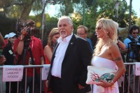 John Ratzenberger on the red carpet at Cars Land