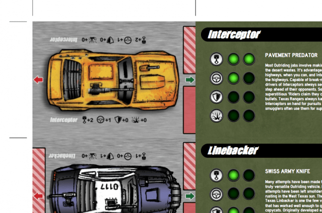Vehicle Cards