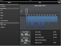 The iOS app displays recorded sleep data