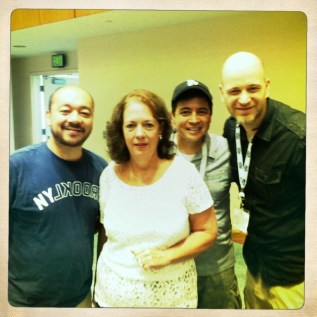 The filmmakers, with Gary Gygax's widow, Gail Gygax.