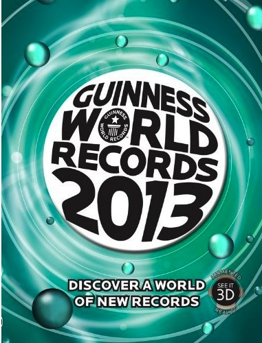 Guinness World Records 2013, hardcover edition.