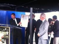 Rick Baker receiving LA city proclamation