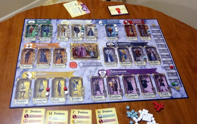 Courtier-game in progress