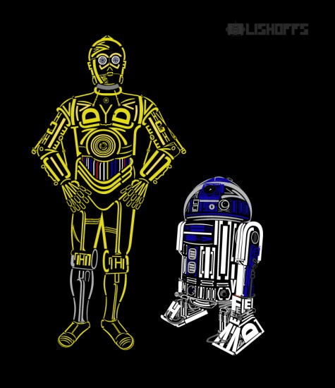 C3PO, R2D2, Star Wars, arts, Darth Vader