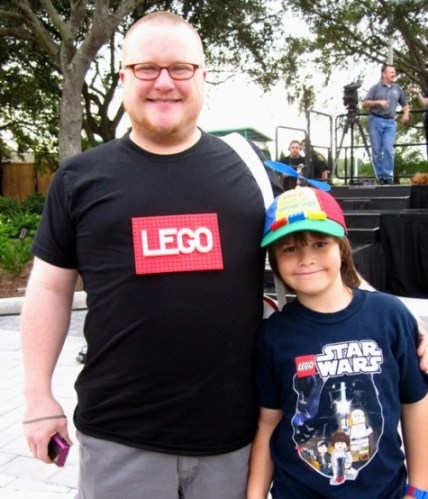 Aaron and Nine year old Max from Sanford, FL express their love of Lego.