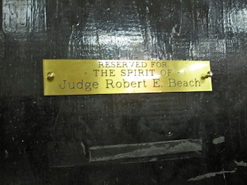 Judge Beach Placard