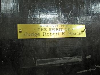 Judge Beach Placard