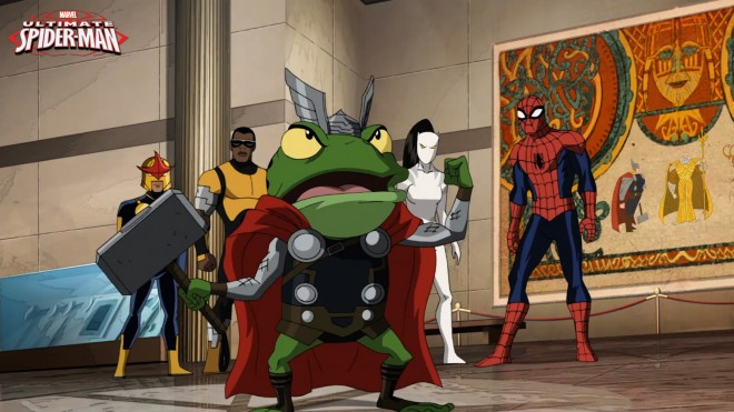 Thorg in the Ultimate Spider-Man / Photo Courtesy of Marvel Entertainment