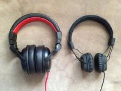 Wicked Audio Solus size comparison to Marshall Major Black / Image: Dakster Sullivan