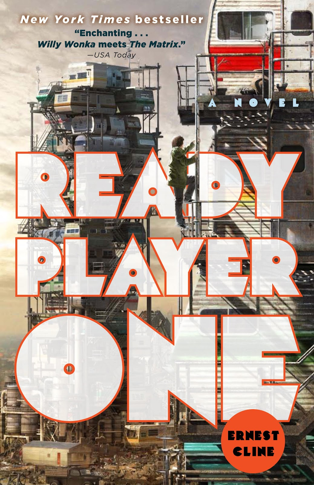 Image result for Ready Player ONe book cover