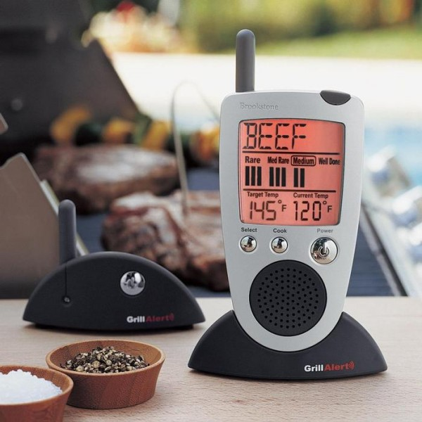 Brookstone Grill Alert Talking Meat Thermometer