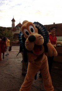 Pluto was ready for his close up while waiting to film his part for New Fantasyland  Image: Dakster Sullivan