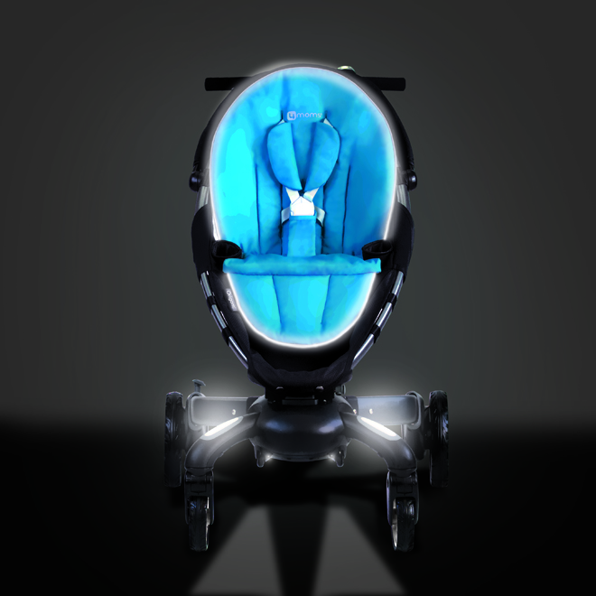 Insane Baby Stroller Sports LCD Display, Headlights, Phone Charger