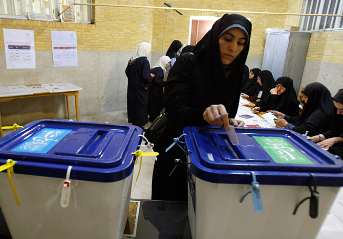 Estimates for the upcoming 2013 Iran Presidential elections