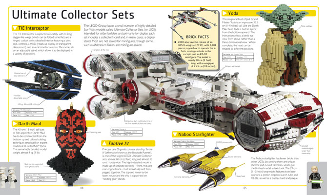 These sample paages from Lego Star Wars: The Visual Dictionary reveals just