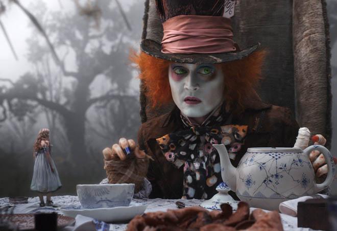 Image result for mad hatter tea party  tim burton