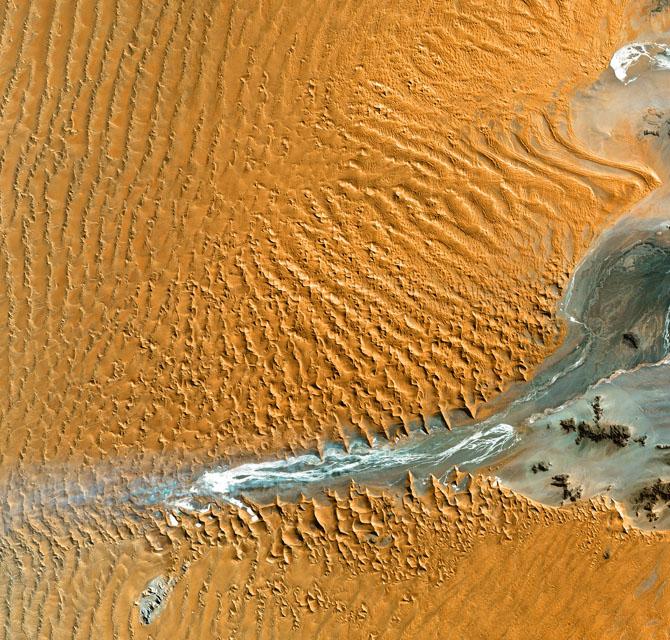 Desert Dunes seen from Space