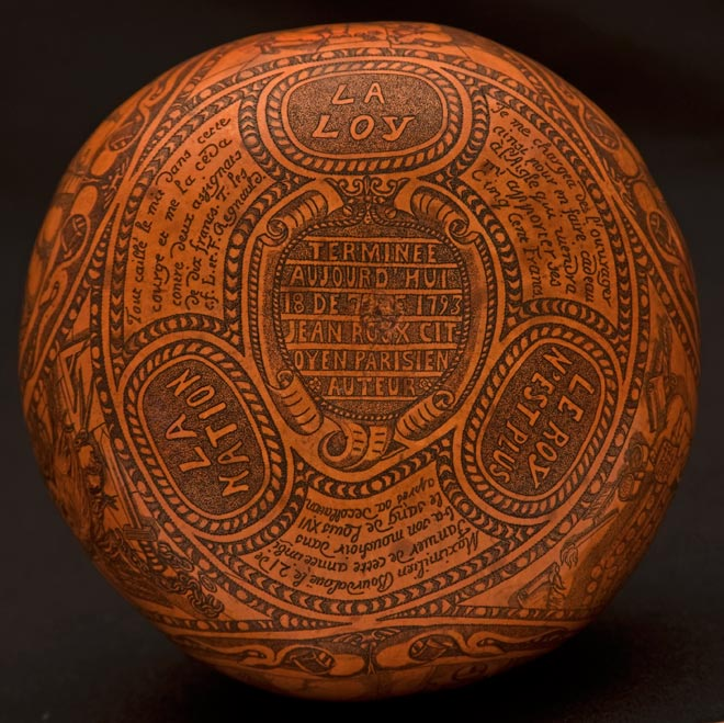 Louis XVI execution gourd inscription