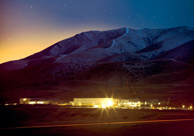 The National Security Center's massive $2 Billion Dollar highly fortified top secret data center