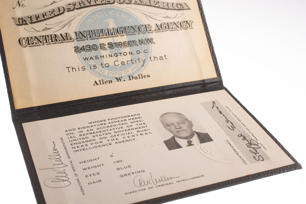 CIA ID Card for Allen W. Dulles