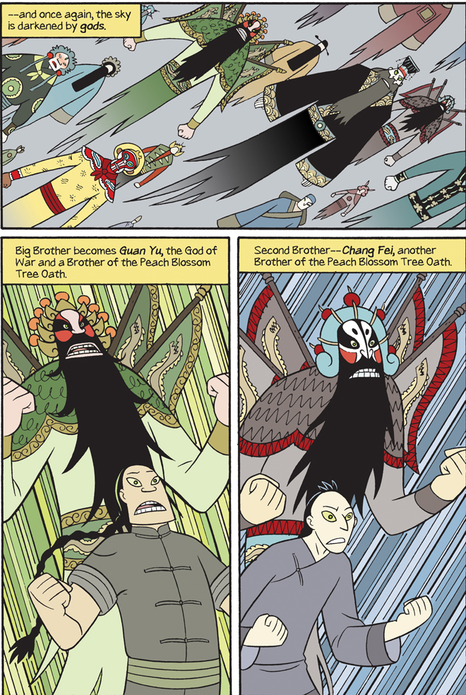 page from Gene Luen Yang's forthcoming Boxers and Saints