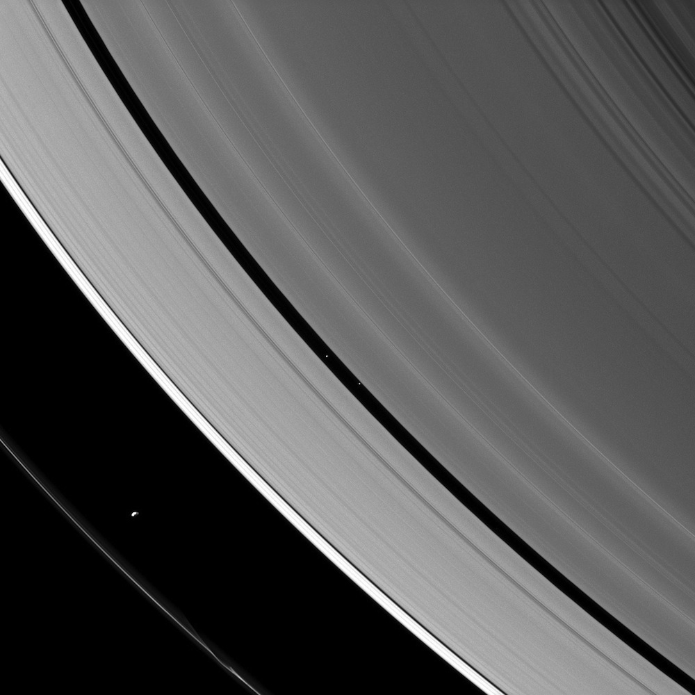 Saturn's herding Moons.
