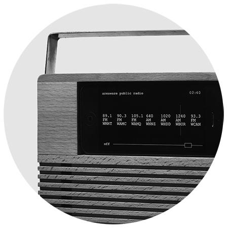 Areaware iPhone radio dock