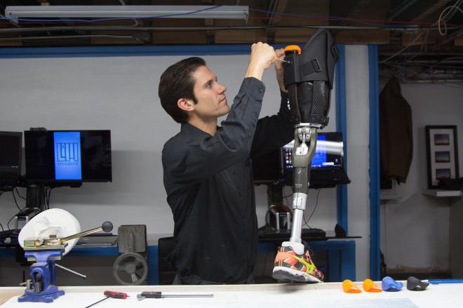Garrett Hurley, LIM's co-founder, tweaks the Infinite Socket.