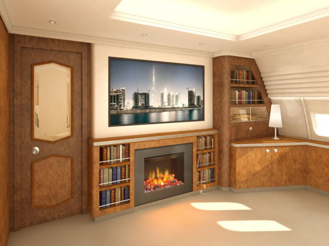 Thank God: There's Finally a 'Fireplace' for Private Jets