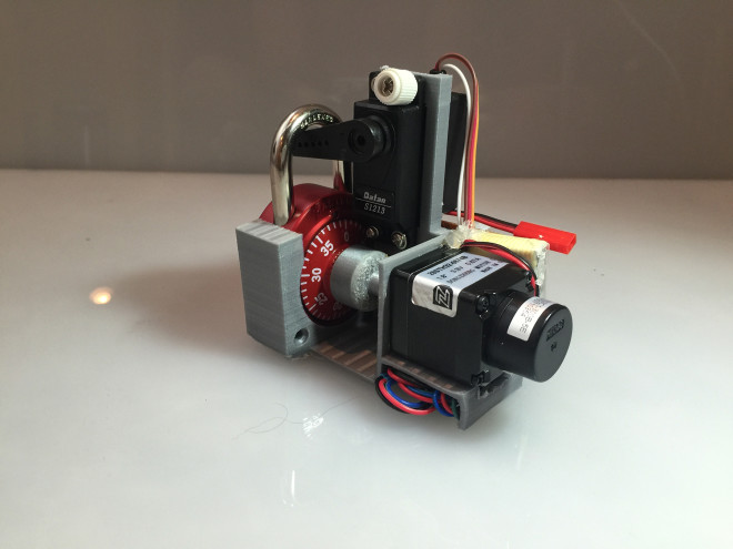 This Little 3-D Printed Robot Cracks Combination Locks in 30 Seconds