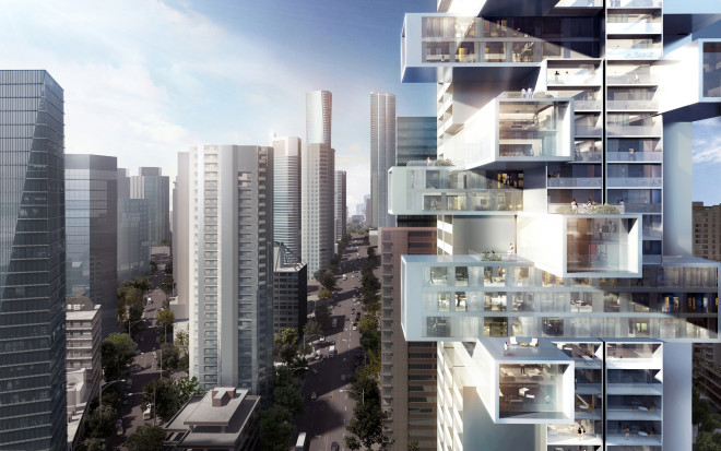 Jenga-Like High-Rise Connects Residents With the World