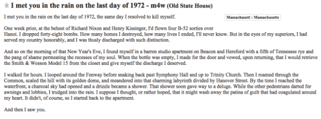 This Might Be the First Craigslist Ad to Win a Pulitzer