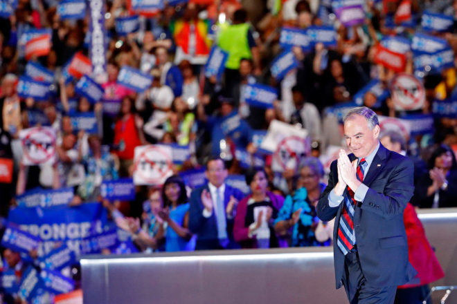 The Internet Was Saving Its Best Dad Jokes for Tim Kaine