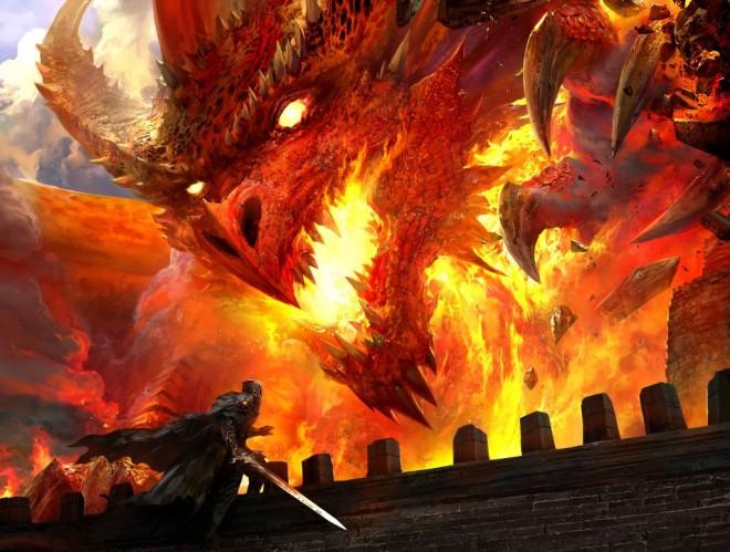 Un dragón amenazador, porque mola.