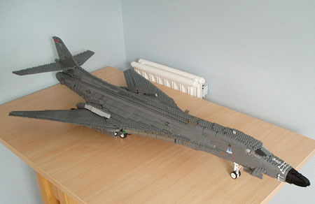Daily LEGO  8 000 piece B 1B Bomber   WIRED Legobomber