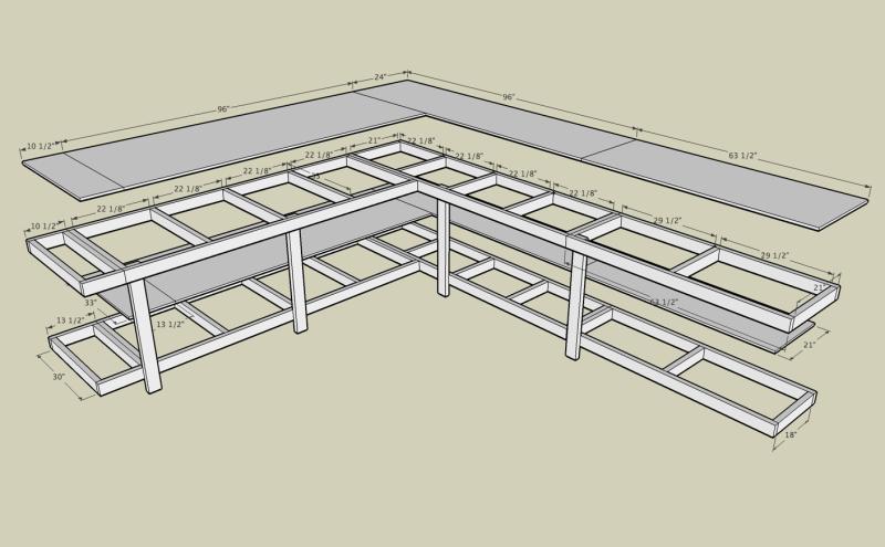 garage desk plans
