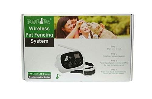 new product outdoor pet supplies electronic dog yard 100 levels wireless dog fence system with 2