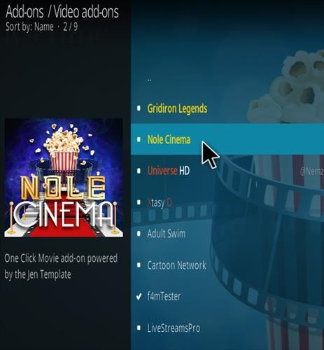 How To Install Nole Cinema Kodi Addon New 777 Step 17