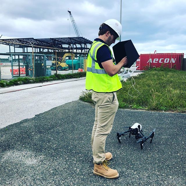 #BAM on site for a little aerial mapping and photography for Aecon on Bermuda's new airport build. Full permission to fly the area. Thanks @djiglobal  for the assist.