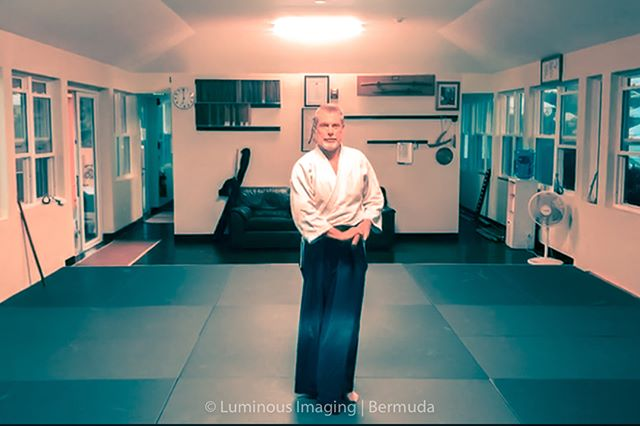 Aikido Weapons practice at #Bermuda Aikikai on Wednesday nights. Weapons, especially the bokken (wooden practice sword) is the foundation of all Aikido as taught by O'Sensei, through Chiba Shihan and passed down to our own Smith Shihan in Bermuda. We do our best to keep the essence of the art going without diluting the specifics and pass on to the next generation.