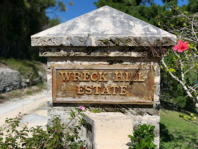 The entrance to Wreck Hill Estate, once the home of legendary film producer Robert Stigwood. He was best known globally for his management of the Bee Gees and producing Saturday Night Fever and Grease, but we in Bermuda new him best for his parties!