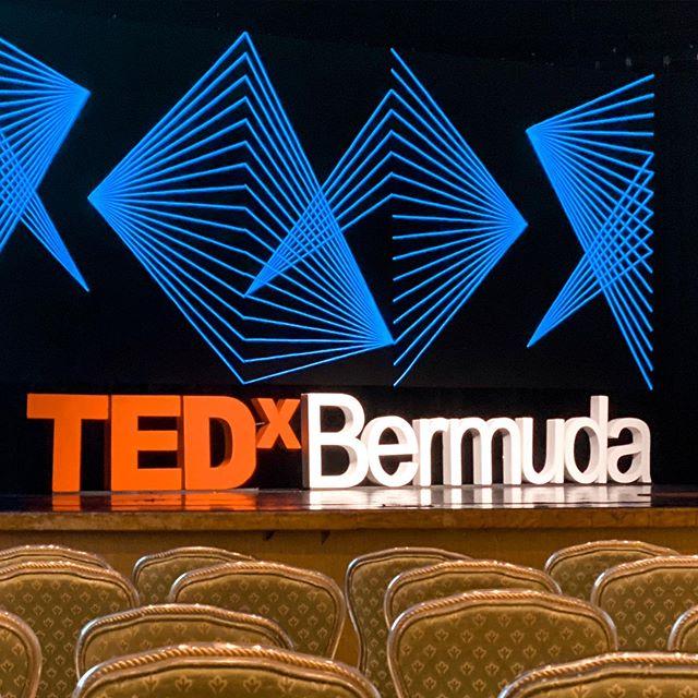 Mid way through 2019 TEDx BERMUDA.