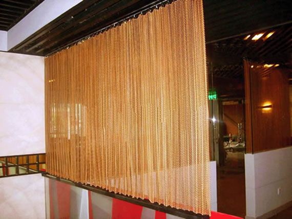 Chain Link Mesh Curtains Drapery For Architectural Decoration Room Divider And Wall Covering