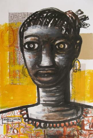 portrait of senegales woman
